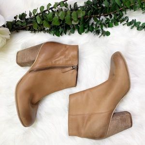 BP. Trolley Leather Ankle Bootie